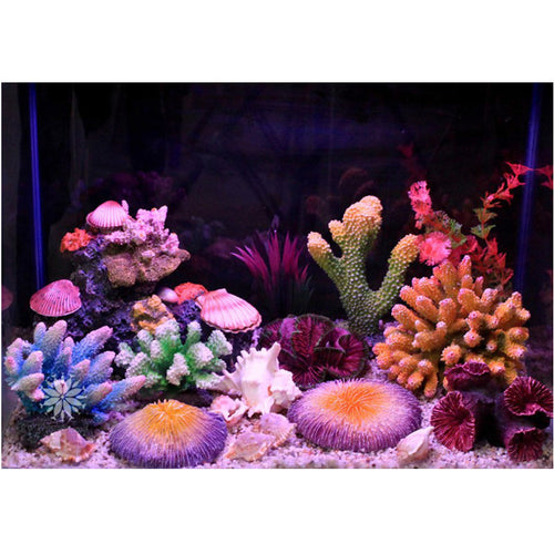 New 12 Styles Artificial Aquarium Coral Decoration Rock Fish Tank Ornament Coral Reef Shell Stone Decoration Aquarium Background