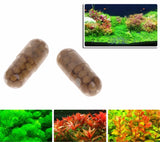40 Pcs Aquatic Plant Water Root Fertilizer Condensed Aquarium Fish Tank Cylinder-m18