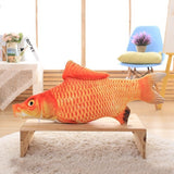 1PC Creative Pet Cat Kitten Chewing Cat Toys Catnip Stuffed Fish Interactive Kitten Product 20cm 30cm 40cm four sizes