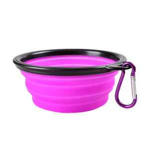 Transer Travel Collapsible Silicone Pets Bowl Food Water Feeding BPA Free Foldable Cup Dish for Dogs Cat drop shipping f8p15 P40