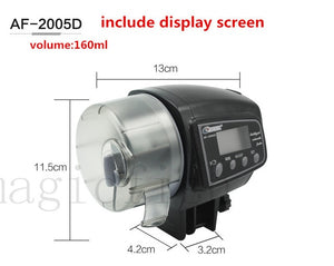 Adjustable Automatic Aquarium Timer Auto Fish Tank Pond Food Feeder Feeding with LCD