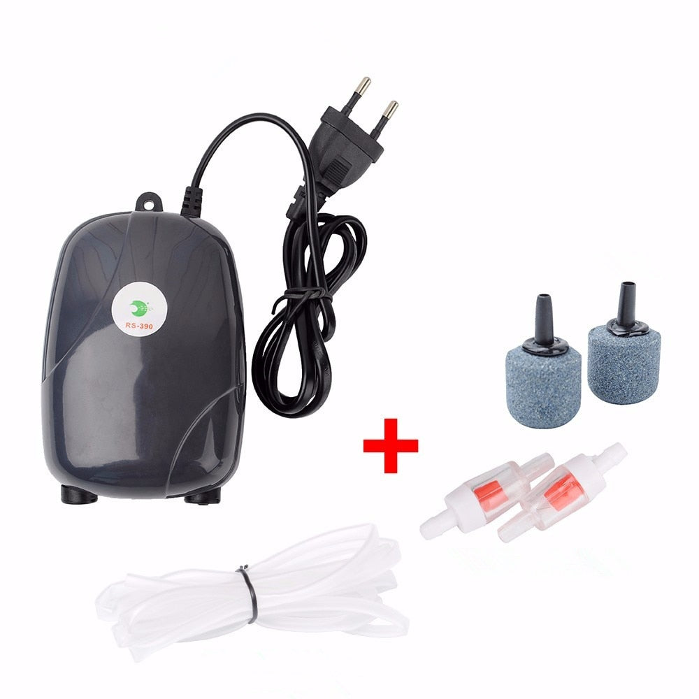 Aquarium Air Pump Fish Tank Mini Silent Compressor Single Double Outlet Oxygen Pumps Aquariums Aquatic Accessories 220V 3W 5W