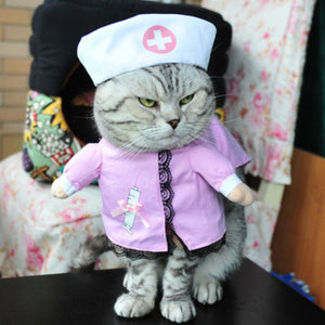 Funny Cat Clothes Pirate Suit Clothes For Cat Costume Clothing Corsair Halloween Clothes Dressing Up Cat Party Costume Suit 31A1
