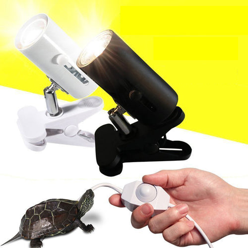 UVA+UVB 3.0 Reptile Lamp Kit with Clip-on Ceramic Lights Holder Turtle Basking UV Heating Lamp Set Tortoises Lizards Lighting