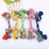 Pets dogs pet supplies 1pcs pet supplies Pet Dog Puppy Cotton Chew Knot Toy Durable Braided Bone Rope Funny Tool (Random Color )