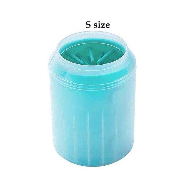 Dog Paw Cleaner Soft Silicone Pet Foot Washer Cup Gentle Bristles Pet Clean Brush Quickly Clean Paws Dog Foot Wash Tool XS S M
