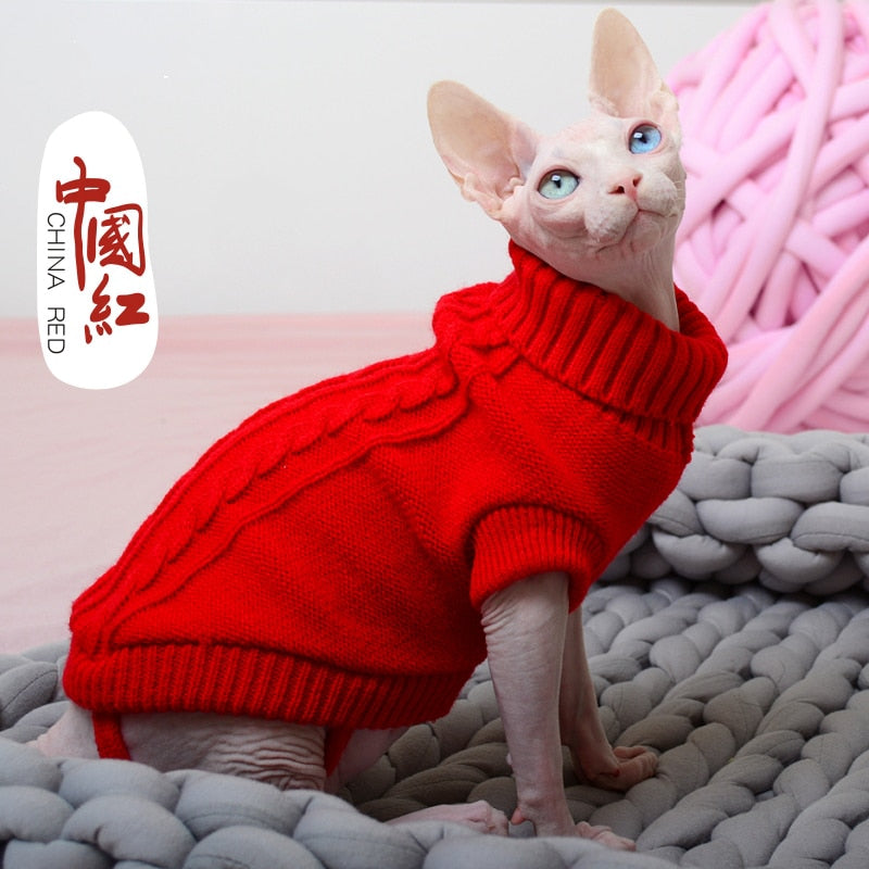 [MPK Cat Hoodies] SWA Cat Sweater, Sweater for Cats And Small Dogs, Cat Clothing, 12 Choices Of Colors + 6 Sizes For Each Color