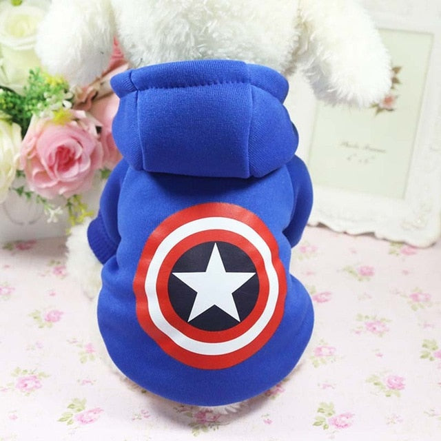 Cartoon Dog Hoodie Pet Dog Clothes For Dogs Coat Jacket Cotton Ropa Perro French Bulldog Clothes For Dogs Pets Clothes Pug
