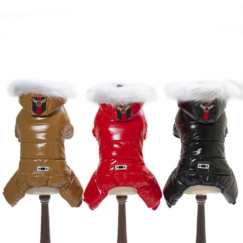 Winter Pet Dog Clothes Warm Pet Plush Coat Jacket four leg Jumpsuit Puppy Clothes Small Dog Costume Apparel Outfit Ropa Perro