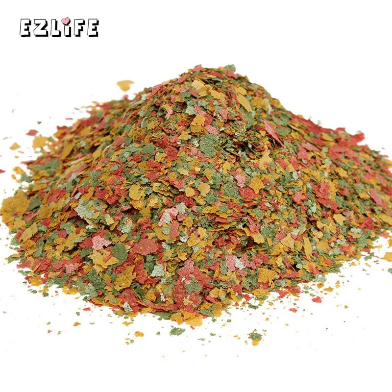 Aquarium Fish Food Tetra Flakes For Tropical Fish Marine Ornamental Fish Small Goldfish Koi Feeding Food EZLIFE 100g/Pack PT0304