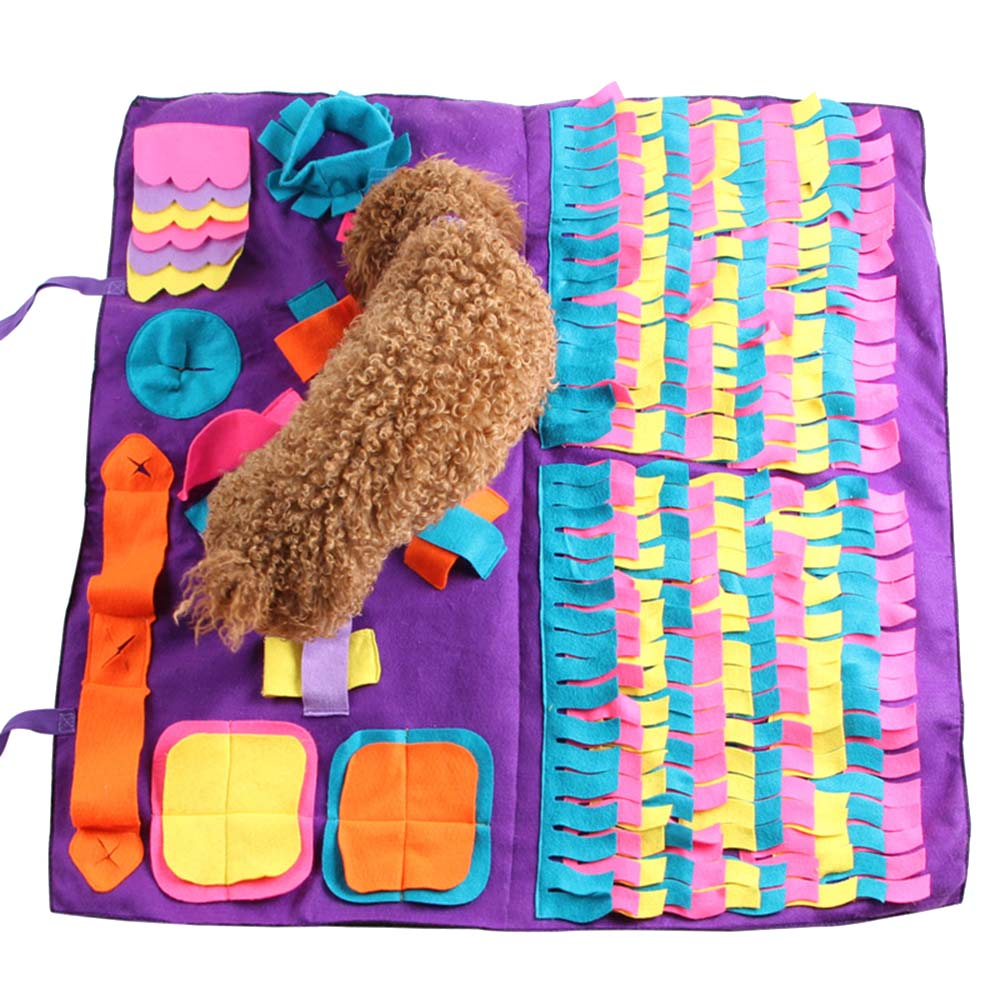 Pet Dog Sniffing Mat Find Food Training Blanket Play Toys Dog Mat For Relieve Stress Puzzle Sniffing Mat Pad