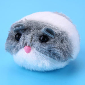 New 1PC cute cat toy plush fur toy shake movement mouse pet Kitten funny movement rat Little interactive bite toy
