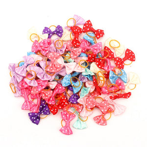 Small Dogs Bows Hair Grooming Puppy Accessories Supplies For Pets Hair Clips Grooming Yorkshire Table Bows honden strikjes