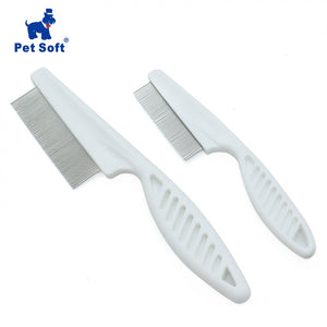 Pet Soft  Animal Care Comb Protect Flea Comb for Cat Dog Pet Hair Grooming Comb Stainless Steel Comfort Flea Comb Grooming