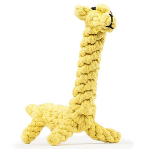 Pet Soft Dog Toys  Animal Design Cotton Dog Rope Toys Durable Cotton Chew Toys Training Teething Toys for Small to Medium Puppy