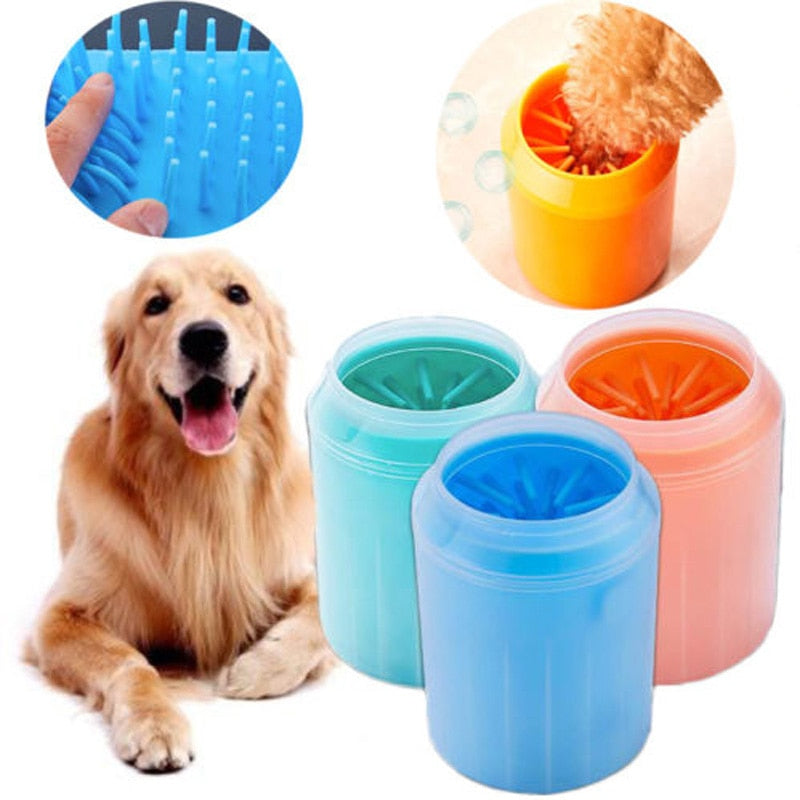 Brand New Style Soft Pet Dog Paw Cleaner Silicone Solid Foot Cleaning Washer Brush Cup