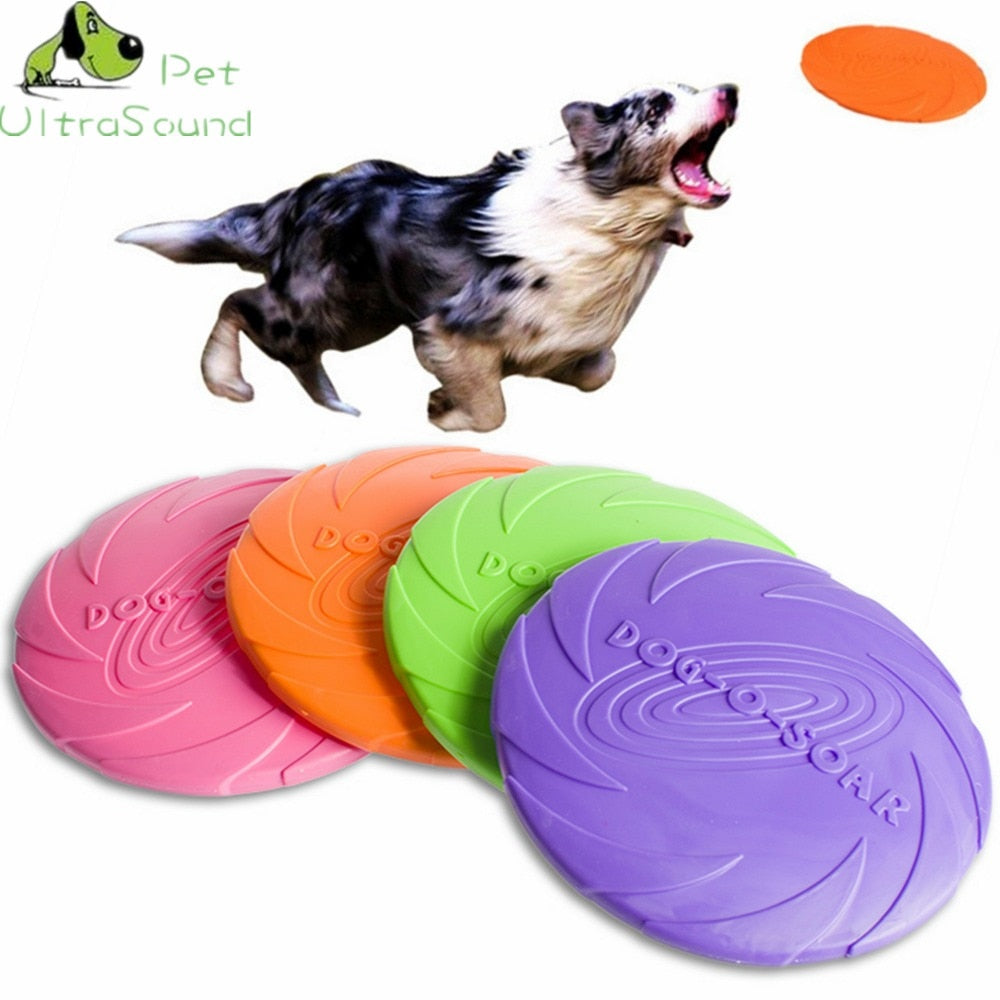 1 Pc Interactive Dog Chew Toys Resistance Bite Soft Rubber Puppy Pet Toy for Dogs Pet Training Products Dog Frisbie Flying Discs