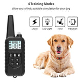 pet 800m Electric Dog Training Collar Pet Remote Control Waterproof Rechargeable with LCD Display for All Size Bark-stop Collars