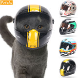 Petshy Puppy Cat Hat Helmets Small Pet Cool Fashion Plastic Outdoor Caps for Motorcycles Photo Props Protect  Pet Accessorie