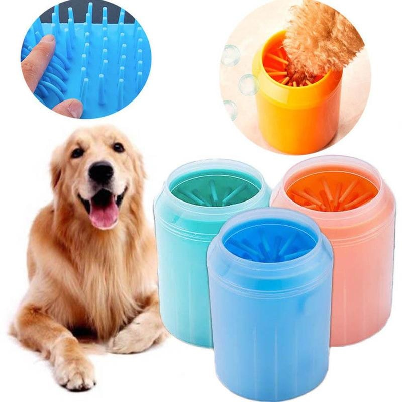 Dog Paw Cleaner Soft Gentle Silicone Portable Pet Foot Washer Cup Paw Clean Brush Quickly Washer Dirty Cat Foot Cleaning Brush