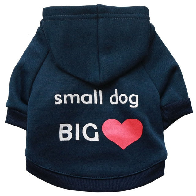 Security Dog Clothes Small Dog Hoodie Coat Chihuahua Dog Sweatshirt French Bulldog Warm Puppy Clothes Hoodie For Dog XS-L
