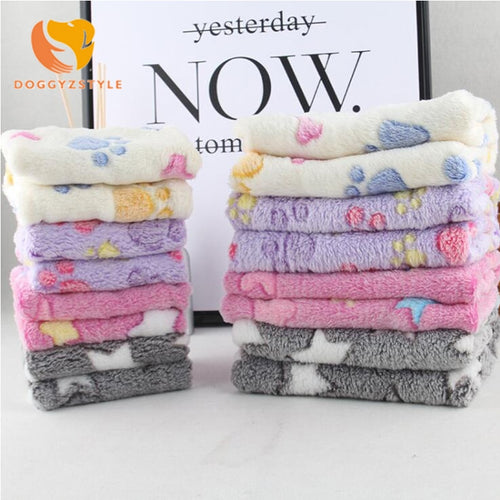Pets Mat Soft Warm Coral Fleece Print Design Pet Puppy Dog Cat Mats Blanket Sleeping Bed Sofa Cover Pet Supplies DOGGYZSTYLE
