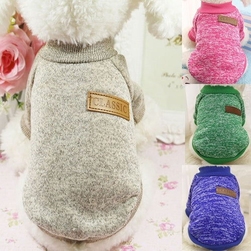 Classic Warm Dog Clothes Puppy Pet Cat Clothes Sweater Jacket Coat Winter Fashion Soft For Small Dogs Chihuahua XS-2XL