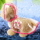 Pet Jacket for Rain Dog Transparent Raincoat Adjuastable Waterproof Coat for Small Medium Large Dogs Hooded Windproof Design