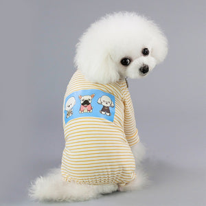 Cute Small Dogs Pajamas For Pet Dogs Cat Clothes Puppy Jumpsuit For Dog Coat For Chihuahua Pomeranian Dogs Print Clothing Shirt