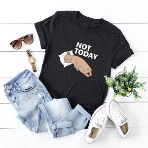 Plus Size S-5XL New Lovely Dog Letter Print T Shirt Women 100% Cotton O Neck Short Sleeve Summer T-Shirt Tops Casual T Shirts