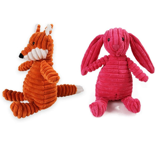1pc Plush Toy Dog Toys Bite Resistant Cleaning Teeth Dog Chew Puppy Toys Cartoon 16 Styles Animal Pet Toys For Dogs