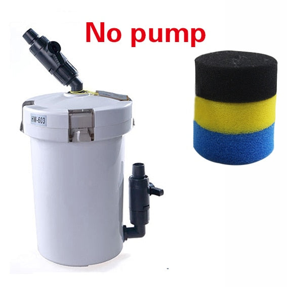 sunsun aquarium filter ultra-quiet external aquarium filter bucket 110V-220V / 6W / HW-602 / HW-603 / HW-602B / HW-603B