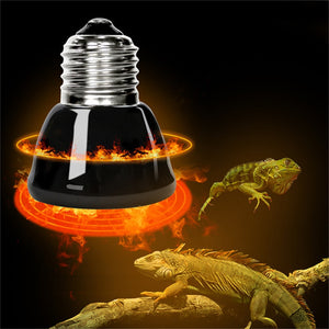E27 Pet Heating lamp Black Infrared Ceramic Emitter Heat Light Bulb Pet Brooder Chickens Reptile Lamp 25W 50W 75W 100W 220-240V