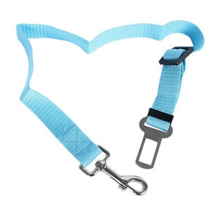 Adjustable Safety Seat Belt Nylon Pets Puppy Seat Lead Leash Dog Harness Vehicle Seatbelt Pet Dog Supplies Travel Clip