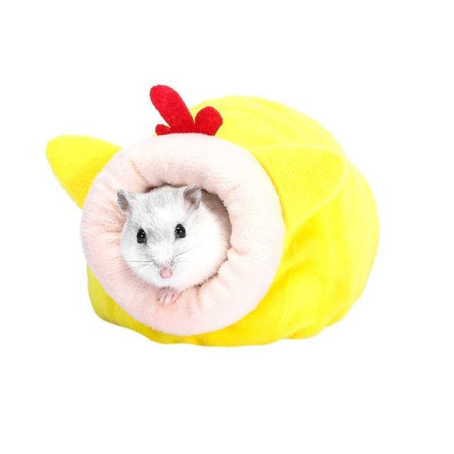 Pet Mouse Guinea Pig Bed Pet Sleeping House Warm Hamster Puppy Kitten Home Beds Soft Nest Bed Mini Small Animals Sleeping Bed