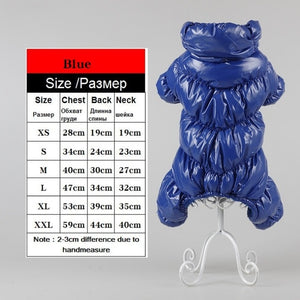 Warm Winter Dog Clothes Collar Windproof Overalls for Dogs Down Coat Waterproof Thicken Parka Dog  Jumpsuit Puppy Outfit