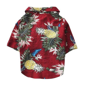Dog Clothes Summer Beach Shirt Dog Cute Print Hawaii Beach Casual Pet Travel Shirt Pineapple Floral Short Sleeve Dog Cat Blouse