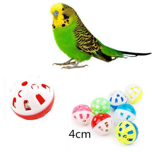 Pet Parrot Toy Bird Hollow Bell Ball For Parakeet Cockatiel Chew Fun Cage Toys 23