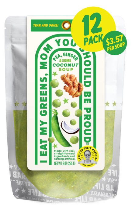 Pea, Ginger & Coconut Soup 12-Pack
