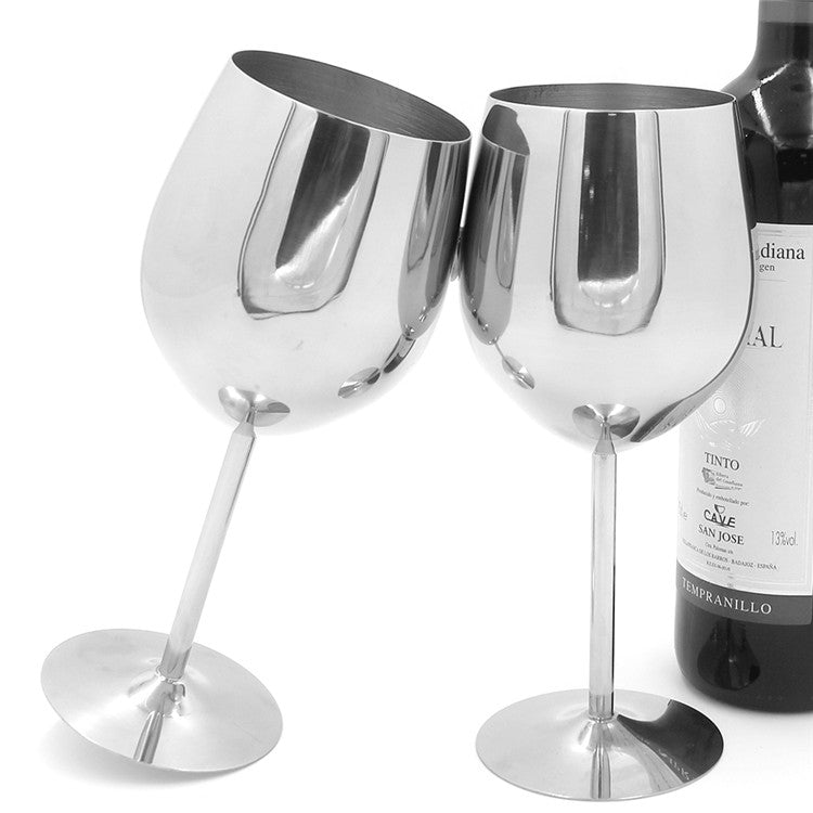Elegant Stainless Steel Glass Wine
