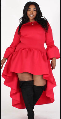 Big Ruffle Bell Red