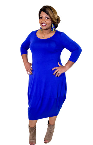 Electric Blue Bubble Dress (super comfortable)