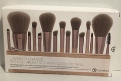 BH Cosmetics Lavish Elegance 15 Piece Brush Set with Bag