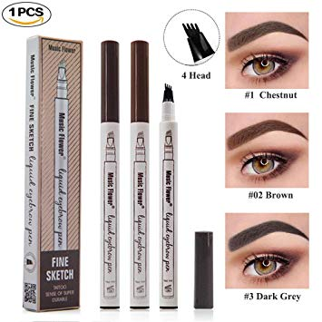 Tattoo Liquid Eyebrow Pencil with Four Fork Tips Waterproof & Long-lasting - Liquidation Cart