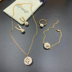 LV Designer Round pendant Necklace full Set