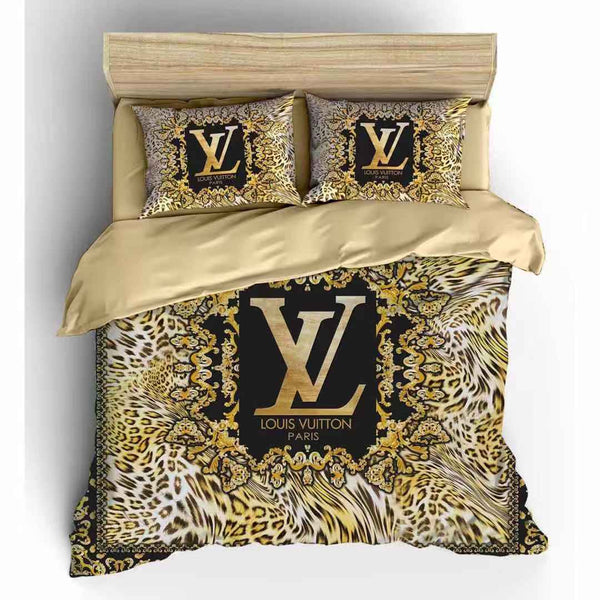 Lv king size Bed sheet with Duvet Cover and 4 Pillow Case