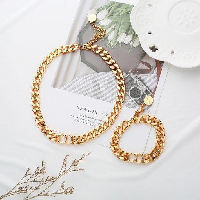 Christian Dior Necklace and Bracelet Set