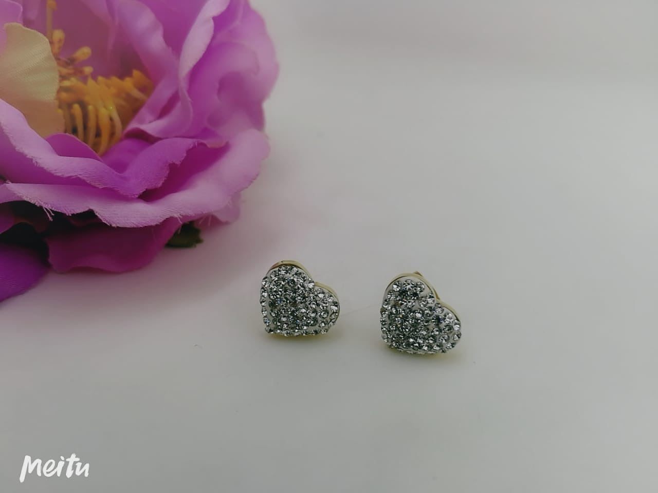 Heart with Diamonds Tops/earrings