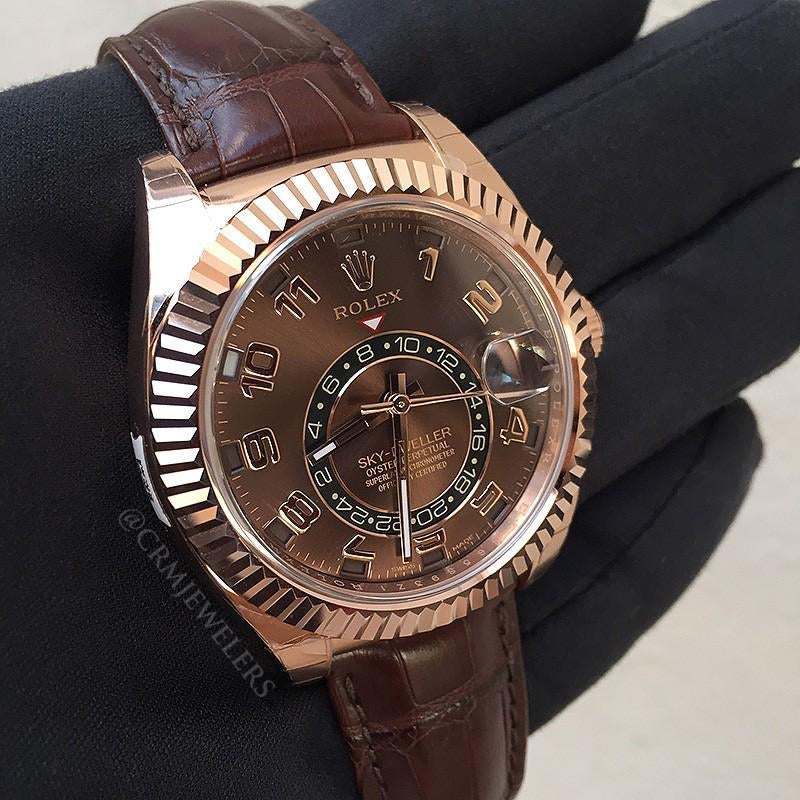 Rolex Oyster Perpetual Sky-Dweller, Gold Brown