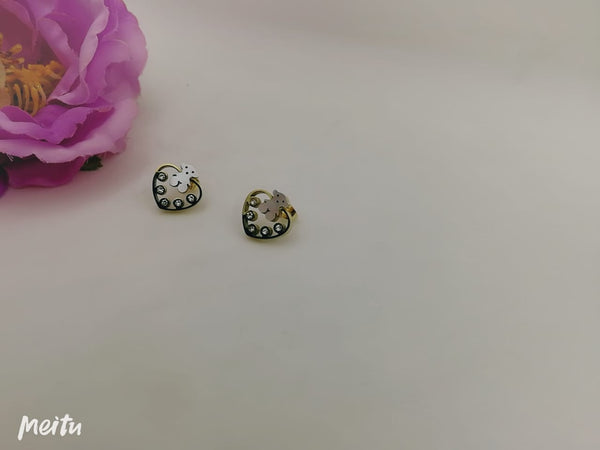 Diamonds heart with Teddy Tops/earrings